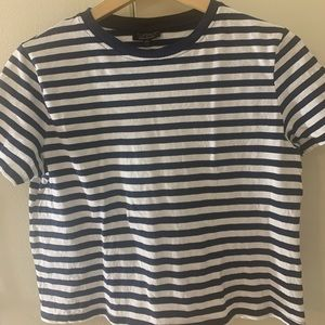 Topshop slightly cropped stripped T-shirt